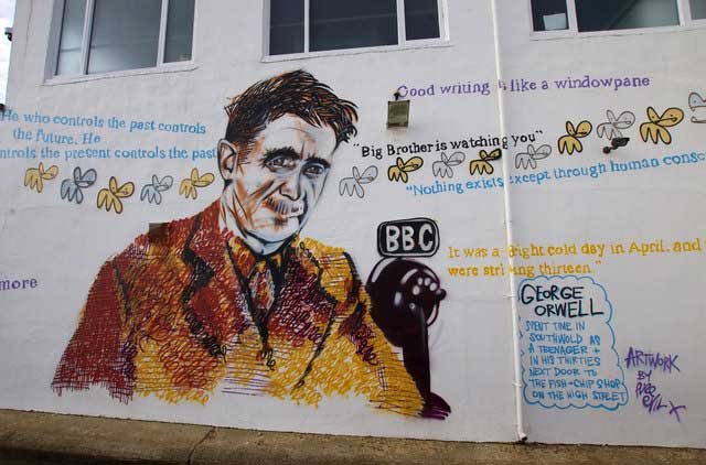 Mural George Orwell Southwold Reino Unido
