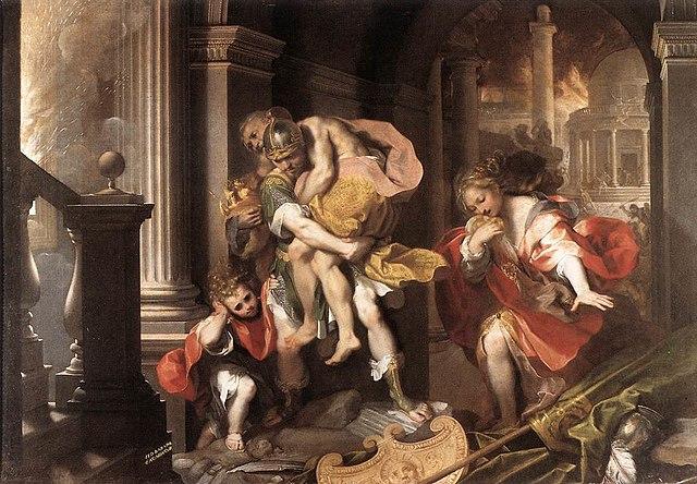 Fuga de Troya por Federico Barocci